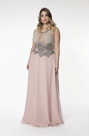Vestido Longo Angela Campos Rose
