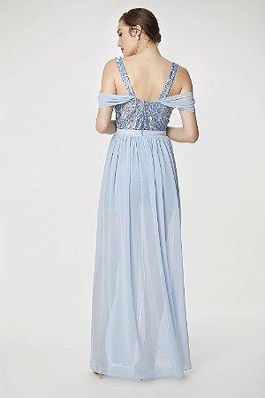 Vestido Longo Camila Siqueira Azul
