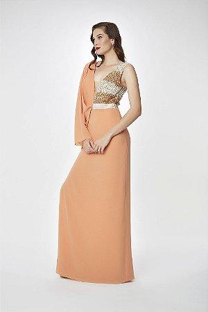 Vestido Longo Coral Arte Sacra