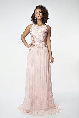Vestido Longo Ellizabeth Marques Rose