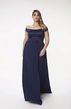 Vestido Longo L'or Azul Marinho
