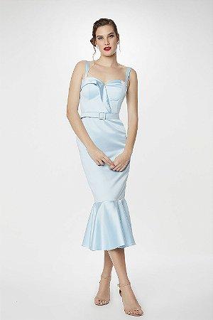 Vestido Midi L'or Azul Claro