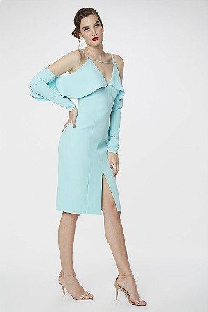 Vestido Midi Cosh Azul Brisa