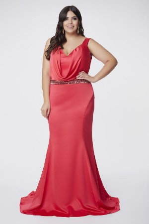 Vestido Longo Plus Size Pink