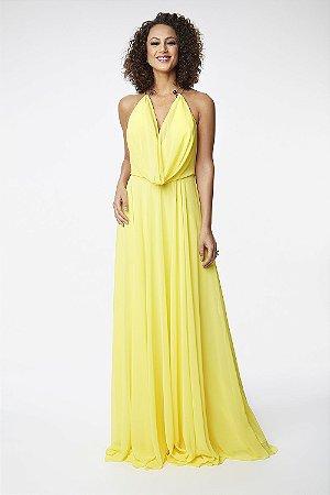 Vestido Longo Ellizabeth Marques Amarelo