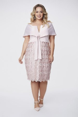 Vestido Midi Plus Size Camila Siqueira Rose
