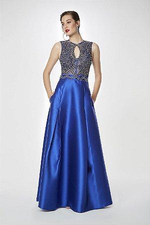 Vestido Longo Ellizabeth Marques Azul