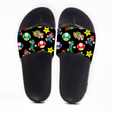 Chinelo Slide Masculino Super Mario Use Nerd