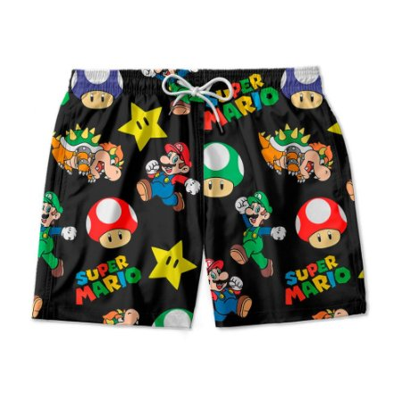 Short Masculino Super Mario World.