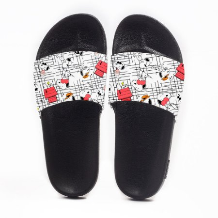 Chinelo Slide Masculino Snoopy Use Nerd
