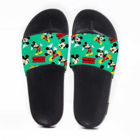 Chinelo Slide Masculino Mickey Mouse Verde Use Nerd