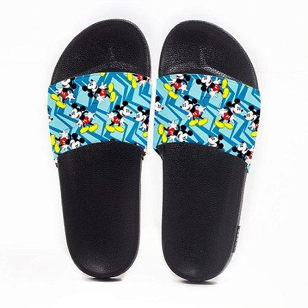 Chinelo Slide Masculino Mickey Mouse Azul Use Nerd