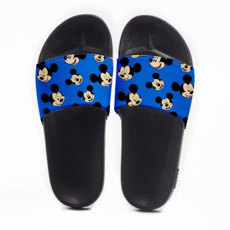 Chinelo Slide Masculino Mickey Mouse Blue Use Nerd