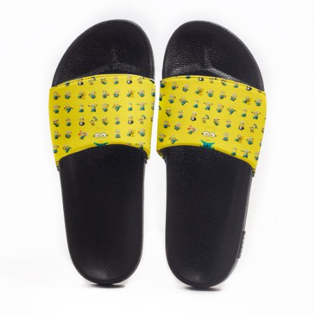 Chinelo Slide Masculino Minions Use Nerd