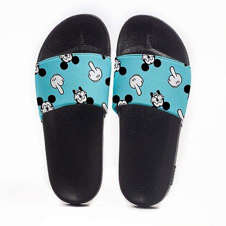 Chinelo Slide Masculino Mickey Dedos Use Nerd