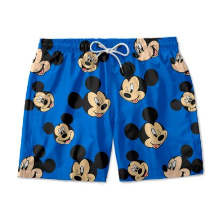 Short De Praia Estampado Mickey Mouse Use Nerd