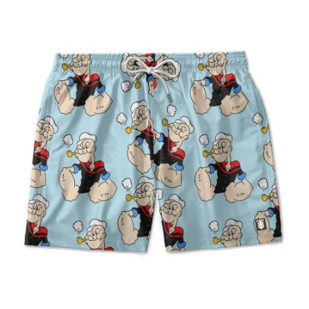 Short De Praia Estampado Popaye Use Nerd