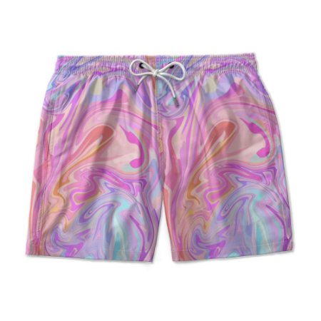 Short De Praia Estampado TIE DYE Pride Use Nerd
