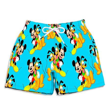 Short Praia Estampado Infantil Mickey e Pluto Use Nerd