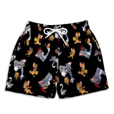Short Praia Estampado Infantil Tom e Jerry Use Nerd