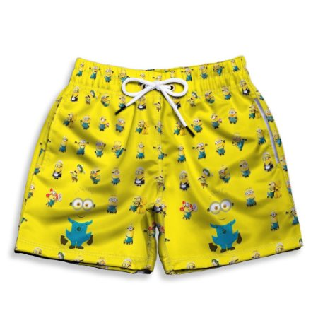 Short Praia Estampado Infantil Minions Use Nerd