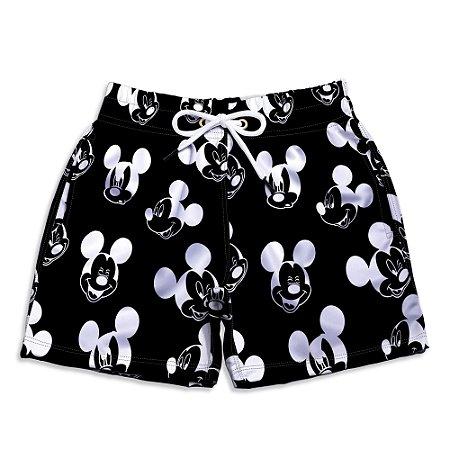 Short Praia Estampado Infantil Mickey Black Use Nerd