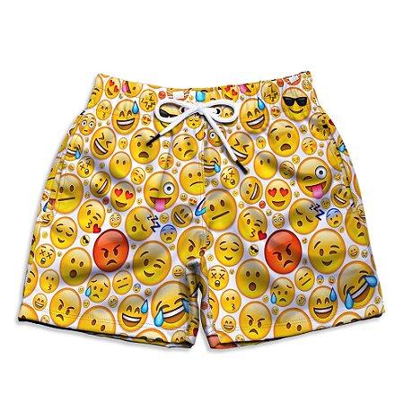 Short Praia Estampado Infantil Emojis Use Nerd