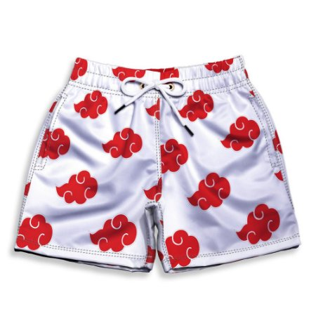 Short Praia Estampado Infantil Akatsuki White Use Nerd