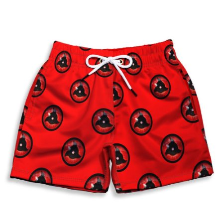 Short Praia Estampado Infantil Sharingan Use Nerd
