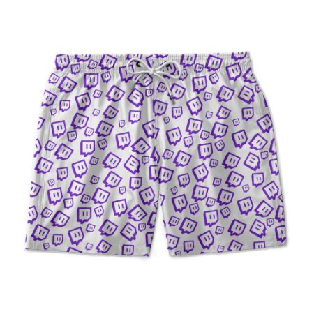 Short Praia Estampado Twitch Use Nerd