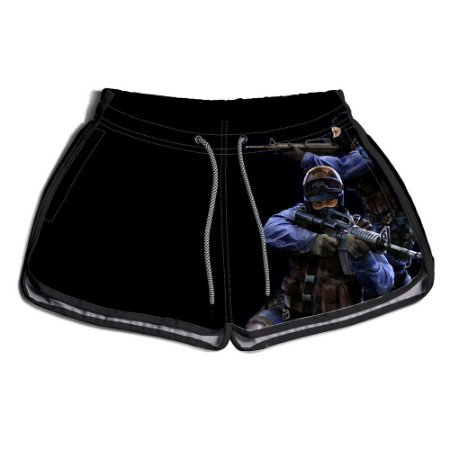 Short Praia Estampado Feminino CS Gol Use Nerd
