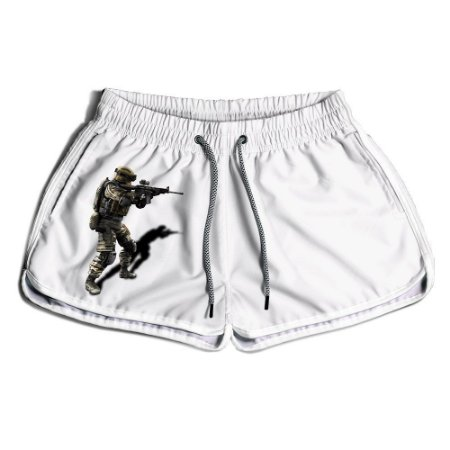 Short Praia Estampado Feminino CS Gol White Use Nerd