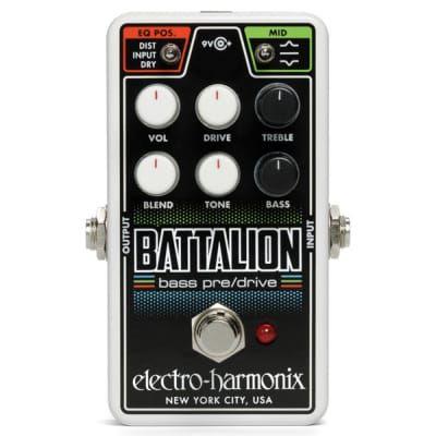 Pedal Bass Preamp  Nano Battalion Overdrive Electro Harmonix