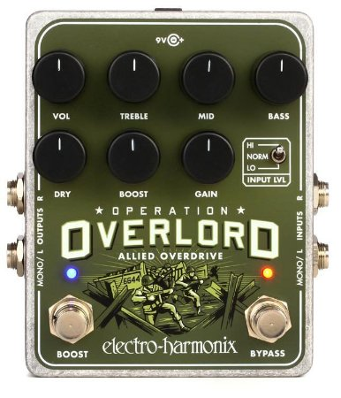 Pedal Ehx Operation Overlord Overdrive Electro Harmonix