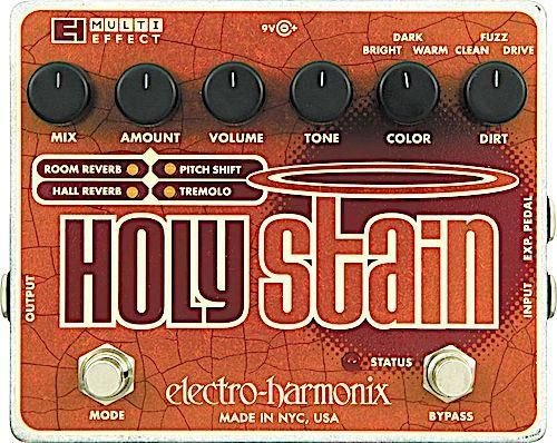 Pedal Ehx Holy Stain Distortion Reverb Pitch Tremolo