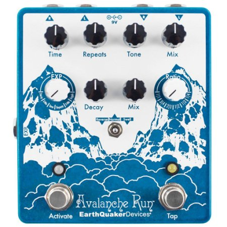 Pedal EarthQuaker Devices Avalanche Run V2 Stereo Delay Reverb