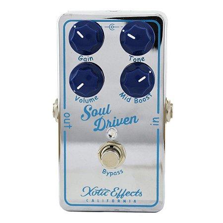 Pedal Xotic Soul Driven com Mid Boost