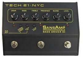 Tech 21 Sansamp Programmable Bass Driver Pbdr