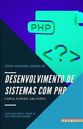 Desenvolvimento de Sistemas com PHP - Carga horária 288 horas