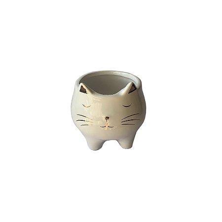 Cachepot Cerâmica Gatinho