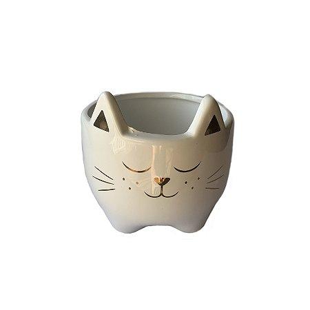 Cachepot Cerâmica Gato