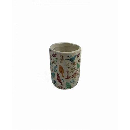 Cachepot Ceramica Birds