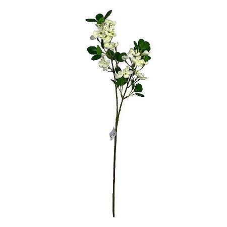 Galho MDE Folhas com Flores