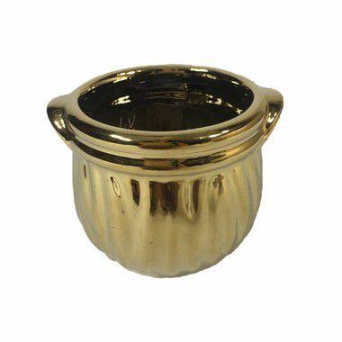 Vaso Metalizado Stela Dourado