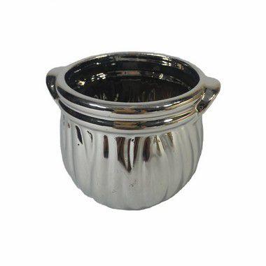 Vaso Metalizado Stela Prata