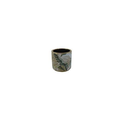 Vaso de Cerâmica Folhas PEQ LV-0152