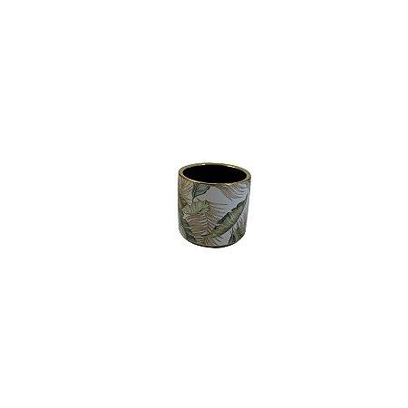 Vaso de Cerâmica Folhas MED LV-0153