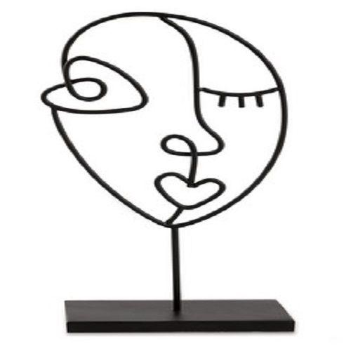 Escultura Preta em Metal 12465