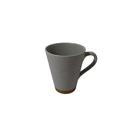 Caneca Cerâmica Cinza 300ml 35379