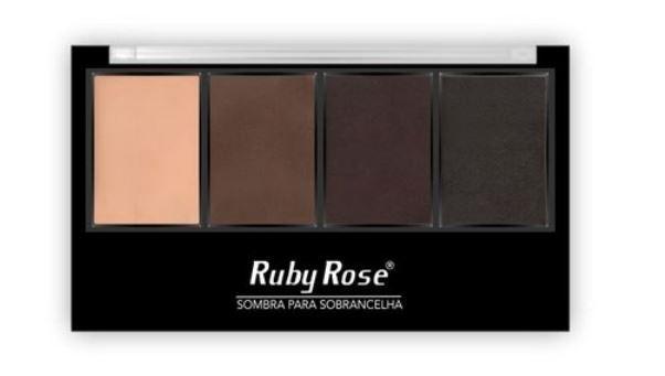 Trio de Sombras + Primer para Sobrancelhas Ruby Rose